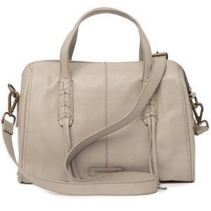 🆕 Lucky Brand gray taupe leather bag crossbody